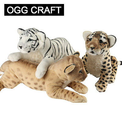 Hot Brown white tiger leopard lion plush toys stuffed animals Baby sitting gifts