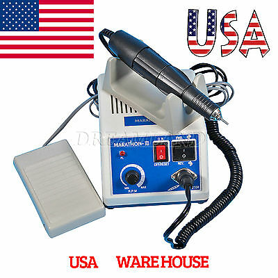 USA Dental Lab Electric Marathon Micromotor Polisher + 35K RPM Handpiece USA-SKM