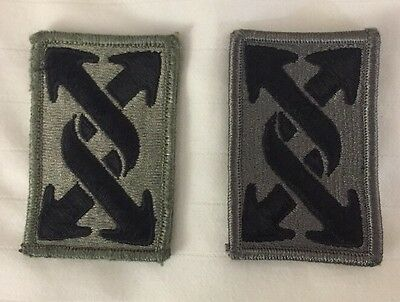 Set of 2 US Army ACU 143rd Sustainment Command Patch w/Full Hook Backing