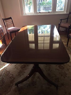 Antique extendable mahogany dining room table