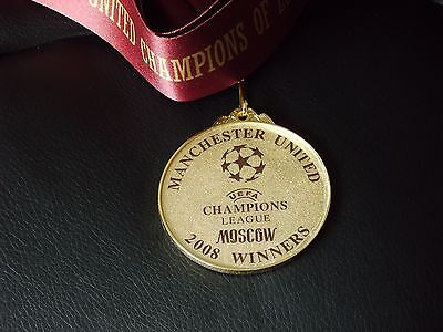 Manchester United - Moscow - 2008 Champions League Winners Medal With Ribbon