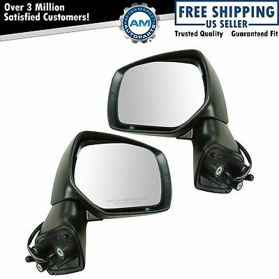 Exterior Mirror Pair LH & RH Sides Power Paint to Match for Subaru Forester