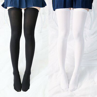Girl Lolita Over-knee Socks Cute Silk Thigh High Cosplay Costume Stockings
