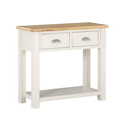 Willow 2 Drawer Console Table in Cream and Light Oak WIL004