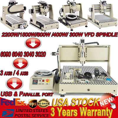 1.5KW/0.8 KW 3 /4 Axis USB CNC DIY Engraver Machine PCB Milling Wood Router Kit