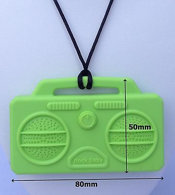 BOOMBOX Pendant Teething Necklace  Silicone Teether Autism Sensory Chewing
