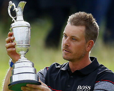 Henrik Stenson 24 Holding The Claret Jug (Golf)  Photo Prints And Mugs