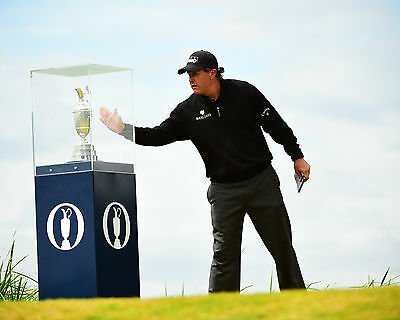 Phil Mickelson 04 Holding The Claret Jug (Golf)  Photo Prints And Mugs