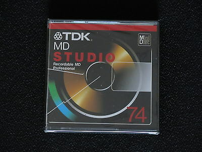 Tdk Md Studio 74 Min Blank Minidisc For Professional Audio & Sound Recording Bn