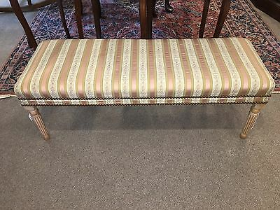 French Style Window Or End Of Bed Bench