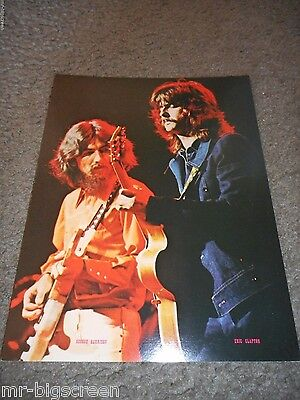 George Harrison/eric Clapton - Original 1973 Rising Signs Large Poster Card