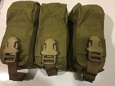 Eagle Industries MOLLE  M4  Triple Mag Pouch USMC  Holds 9 Mags