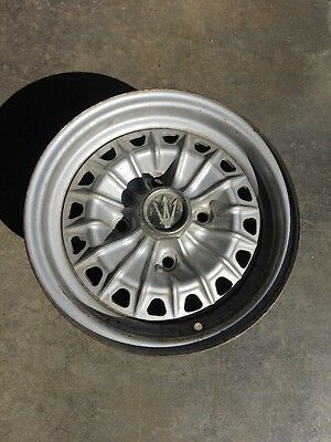 Maserati Original Factory Spare Indy Wheel With Center Maserati Trident