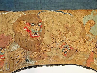 18th-19th C. Chinese Peking Opera Silk Embroidered Panels--LARGE!!--PAIR!!