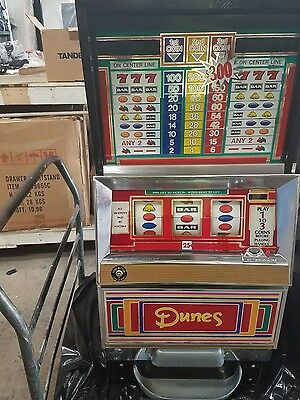 Vintage Rare Dunes SLOT MACHINE over 25 years old