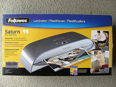 Fellowes Saturn 3i 95 Thermal Cold Laminating Machine w/ 10 Pouches Starter Kit