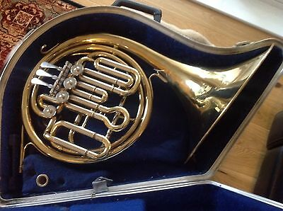 Anborg F/Bb Compensating Double Horn with Case and Mouthpiece. Serviced