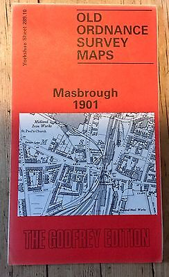 Reprint Of 1901 O.s. Map Of Masborough (Rotherham)