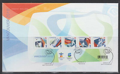 Canada #2299 Olympic Sporting Events Souvenir Sheet First Day Cover