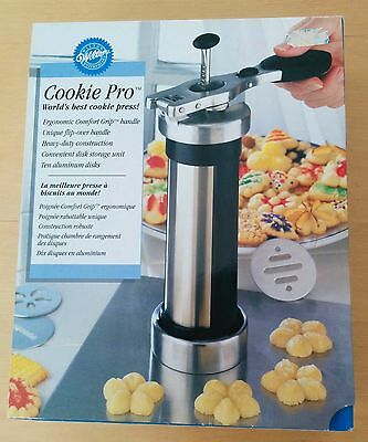 NEW Wilton Cookie Pro Press - Stainless Steel cookie press - New In Box