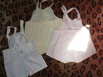 Vintage Dead Stock Embroidered Infant Sunsuits Hand Made in the Philippines