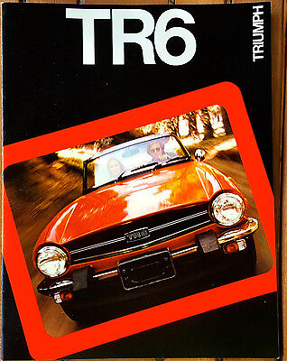 1975 Original Triumph TR6 Catalog Sales Brochure Excellent