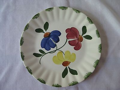 Southern Potteries Blue Ridge Pottery PAINTED DAISY Floral  Dinner Plate