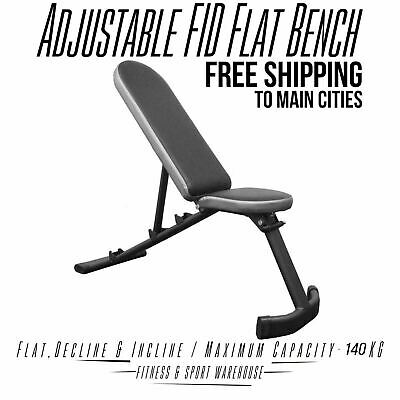 Adjustable FID Incline & Decline Flat Bench Press Fitness Gear & Gym Equipment