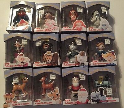 1999 Collectible Rudolph & The Island of Misfit Toys Complete Ornament Set Of 12