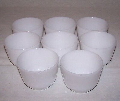 Vintage Federal  Milk Glass Custard Cups Lot Of 8 Made In Usa