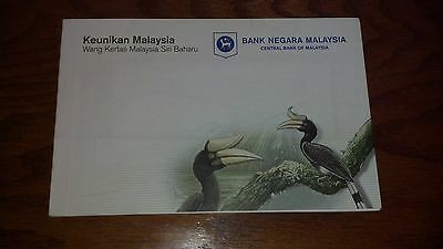 Malaysia Matching Serial 1 & 5 Ringgit Set with Folder UNC