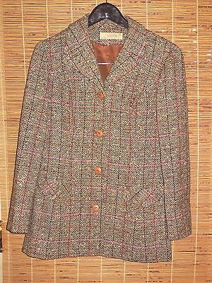Young Pendleton Vintage Blazer 100% Wool Herringbone Plaid Size 13-14