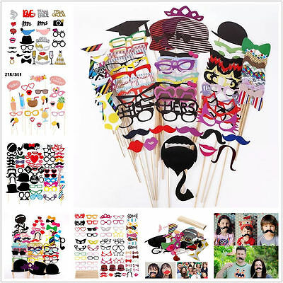 76X Photo Booth Props - Wedding Party Photo Booth Props AU STOCK