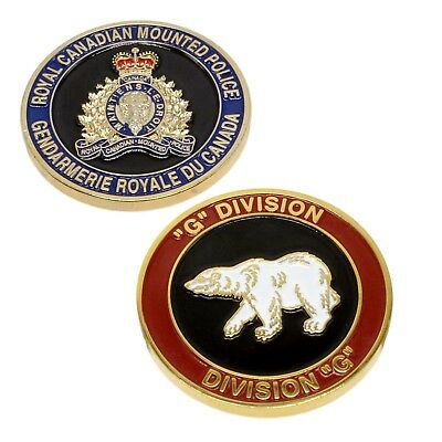 """RCMP Police Challenge Coin """"G"""" Division Unit Royal Canadian Mounted Police"""