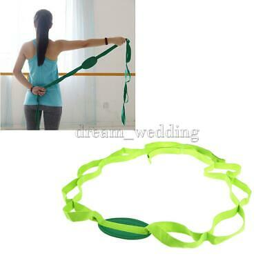 Yoga Strap Stretch Multi-Grip Dance Waist Leg Back Fitness Pilates Stretch Belt