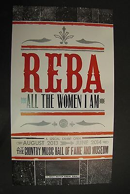 Hatch Show Print  Reba McEntire 2013 Nashville Country Music Hall of Fame