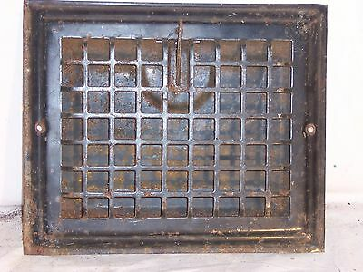 antique heat grate vent register cold 12x10 RO 10x8 wall grill cast Auer square