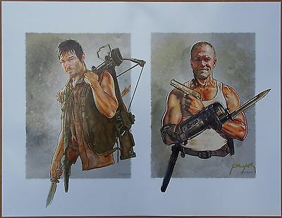 "The Walking Dead ""Daryl & Merle Dixon"" Art Print by Jason Palmer - Signed!"