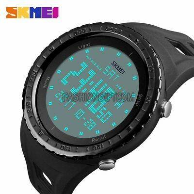 Men's Digital Army Military Sports Waterproof Chronograph Dual Time Wrist Watch