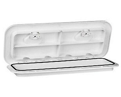 "24""x 14"" Deck Hatch Boat Deck Inspection Access Hatch & Lid White for Boat & Rv"