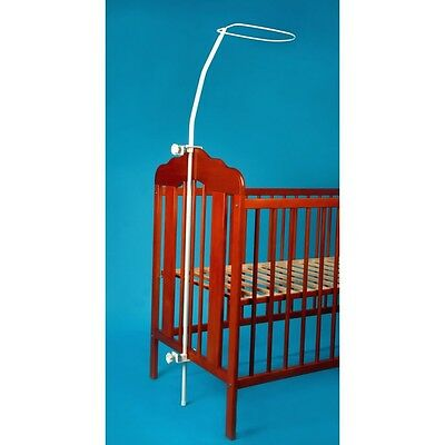 NEW Universal Canopy Drape Holder, Rod, Pole, Bar Fits Baby Cot, Cot Bed Canopy