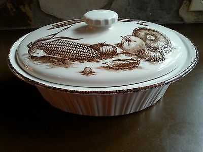 "Midwinter Stonehenge 13"" Oval Casserole MDW19 Brown Vegetables England"