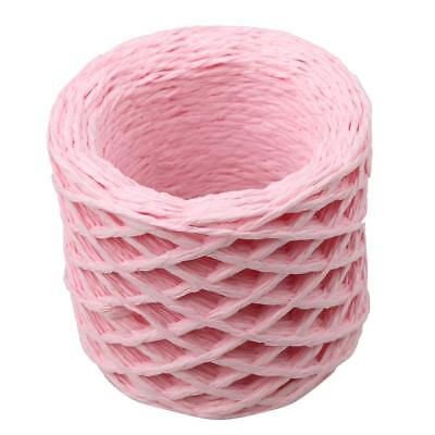 30 Metres Pink Raffia Stripes Paper String for DIY Favor Gift Box Wrapping