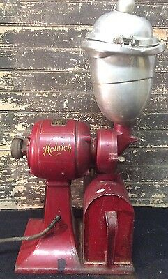 STUNNING Vtg Antique 20s Coffee Grinder HOLWICK Canton OH General Store WORKS