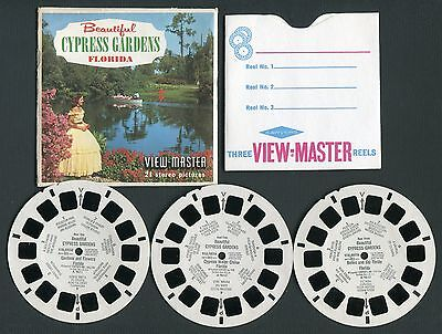 Sawyer's View-Master Packet BEAUTIFUL CYPRESS GARDENS FL #A961 Style S5 Complete
