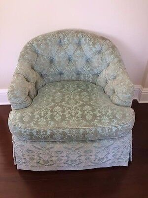 PAIR of CUSTOM Hollywood Regency,tufted, barrel back, club, lounge chairs (2)