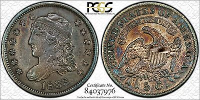 1833   Capped Bust Silver Half Dime  H10C   PCGS XF Details