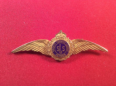 (#128) Vintage British Raf Sports Service League Member Wings -Wwii