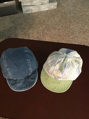 2-Caps For The Handsome Prince! Size 6/9 Months/1 Is A Jean Cap & 1 Classic Pooh