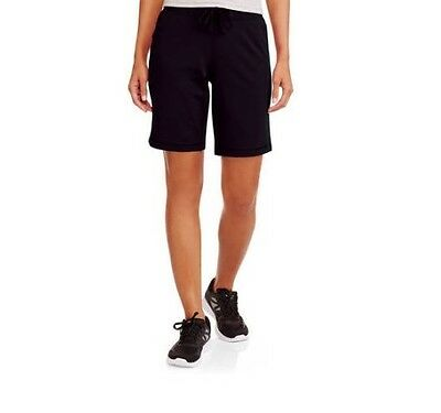Athletic Works Women's Active French Terry Bermuda Black Shorts Size XL (16/18)